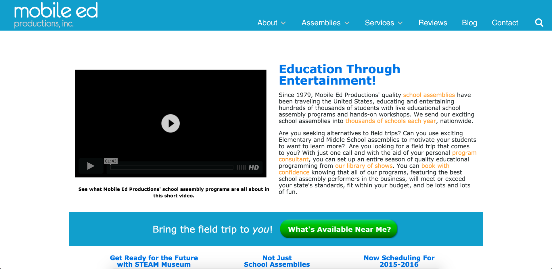 Mobile Ed Productions Website