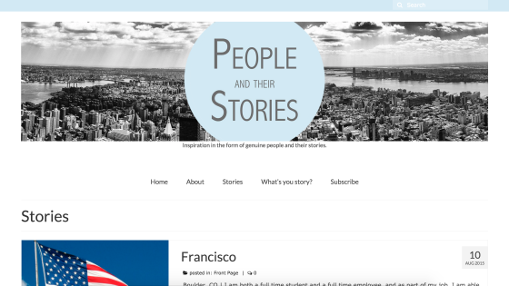 People and Their Stories Website