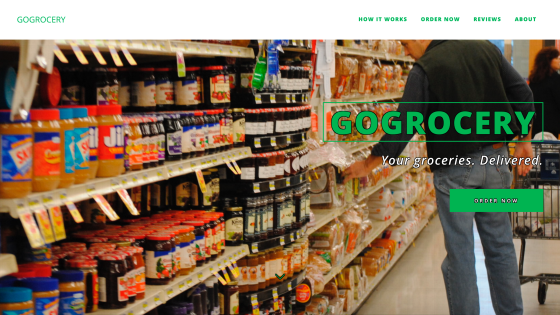 GoGrocery Grocery Delivery Service Website