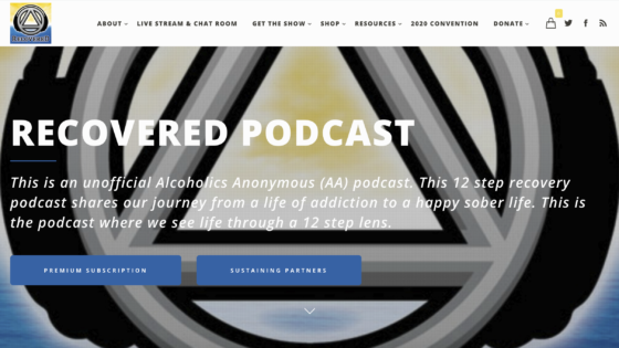 Recovered Podcast Website